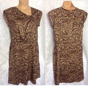 Dresses & Skirts - XL LEOPARD PRINT Stretchy Career Dress